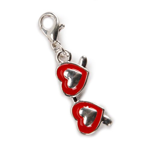 Red Heart Shaped Sunglasses Charm