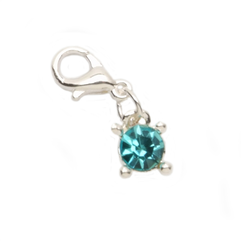 December Faux Blue Topaz Charm