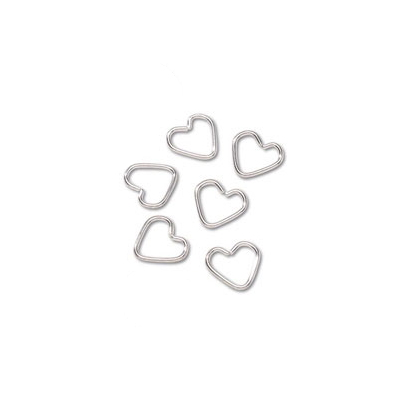 Fashion Heart Shaped Jump Ring 6pc